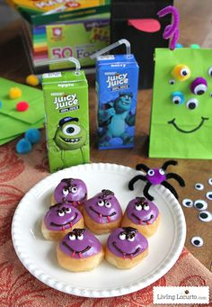 Cute Monster Puppet Crafts for Kids. Juicy Juice & Monsters University Ideas. LivingLocurto.com