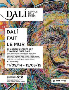 Dali fait le mur à l'Espace Dali : Affiche.