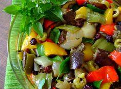 Salada de Berinjela - Veja como fazer em: http://cybercook.com.br/receita-de-salada-de-berinjela-r-1-14757.html?pinterest-rec