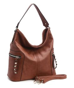 Look at this #zulilyfind! Brown Side-Zip Hobo by Fabulous Age #zulilyfinds