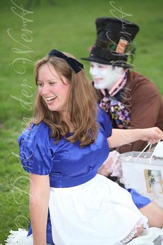 ROWENA AND WILLIAM'S 'ALICE IN WONDERLAND' THEMED WEDDING TEA PARTY AT ELLINGHAM, HALL IN NORTHUMBERLAND, ENGLAND