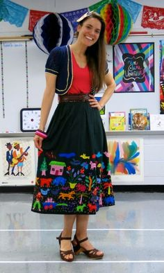 latin american inspired outfit