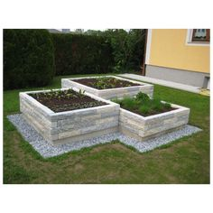 Rough limestone Raised stone Raised natural stone garden Natural stone Raised bed Herb bed Vegetable bed Garden design The post Rime limestone Raised beds appeared first on front garden ideas. Herb Garden Design, Modern Garden Design, Vegetable Garden Design, Vegetable Gardening, Landscape Design, Modern Landscaping, Front Yard Landscaping, Landscaping Ideas, Garden Planters