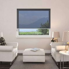 Maintaining your privacy doesn't mean sacrificing the sun. Let the sunshine filter through your windows with clever sunscreen blinds. You can see out, but they won't see in.   #windowblinds #home #homeinspo #homedecor #homesweethome #interiorstyle #interiordesign #meblinds #sunscreenblinds #mediaroomideas #livingroomdecor #officedecor Black Blinds, Black Curtains, Living Room Decor, Living Spaces, Interior Styling, Interior Design, Window Privacy, Black Windows, Protecting Your Home