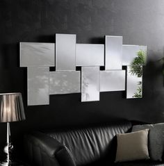 Ceres Large Modern Bevelled Wall Mirrors