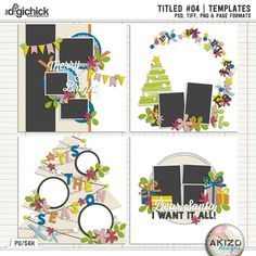 Titled #04 | Templates by Akizo Designs - For Digital Scrapbooking Layout