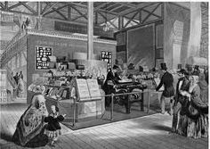 The envelope-folding machine invented by Warren de la Rue and Edwin Hill at the 1851 Great Exhibition. The machine was displayed at Thomas de la Rue & Co.