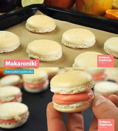 Makaroniki - francuskie ciasteczka Hamburger, Bread, Recipes, Cakes, Biscuits, Bakken, Brot, Recipies, Baking