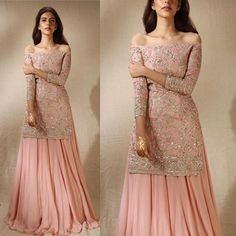 simplicity combined with elegancy brings out the best of dresses.get this customized hand embroidery outfit from nivetas Design studio. Outfits Dress, Party Wear Dresses, Bridal Dresses, Fashion Outfits, Eid Outfits, Bridal Outfits, Indian Bridal Lehenga, Indian Gowns, Indian Attire