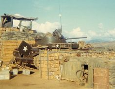 4th Infantry Division. Vietnam. Duster at LZ Schueller, 1970