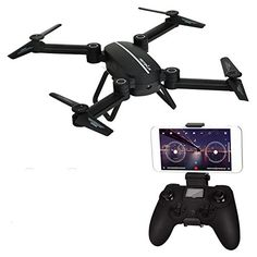 Gentman X8TW RC Quadcopter Foldable Remote Control Drone 24GHz 4CH 6 Axis Gyro Altitude Hold PFV Wifi 03MP HD Camera Headless Mode RC Helicopter ** More info could be found at the image url. Note: It's an affiliate link to Amazon