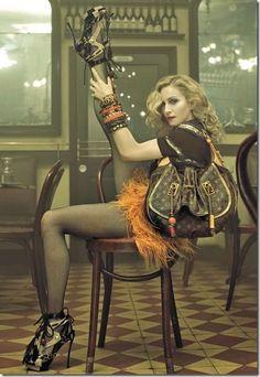 Her Madgesty...  Madonna keeps rocking it!