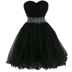 Negro estilo princesa, corte corazón, hermoso para una fiesta