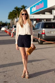 Miami Art Basel 2012 Street Style - High contrast, tailored separates come together effortlessly.