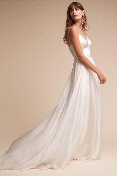 BHLDN Cream Kameron Gown in  New | BHLDN