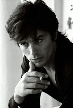 Alain Delon ~ French cinema icon from the 1950's & 60's.  Yesterday's Jude Law ... note the similarity.