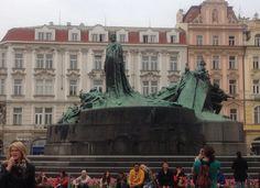 Old sculpture at Prague city