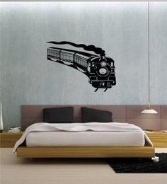 Amazon.com: Wall Vinyl Sticker Decal Mural Train Express Lokomotive Lionel Kids Baby T04: Home & Kitchen