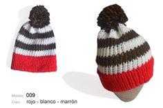 Modelo 009 Gorro rojo-blanco-marrón   mgl 7e36b3f58e1
