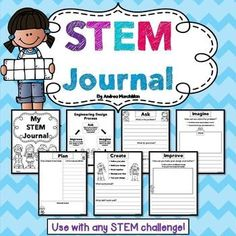 This STEM Journal is perfect for any STEM Challenge! Your first grade, second grade or third grader will have fun completing this STEM activity book!  Great to add to your STEM centers!  1st grade, 2nd grade, and 3rd grade students will benefit from this product!