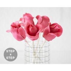 How To Make Cake Pop Flowers Roses Rosebuds
