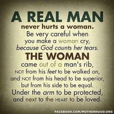 How a man treats a woman