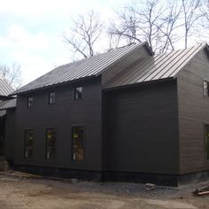 modern farmhouse example of roof and walls same colour