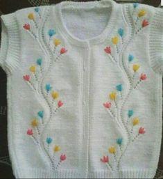 New Baby Crochet Jacket Pattern Socks 55 Ideas Baby Knitting Patterns, Knitting For Kids, Knitting Stitches, Knitting Designs, Hand Knitting, Crochet Baby Dress Pattern, Baby Dress Patterns, Knit Crochet, Cardigan Bebe