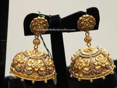 Nakshi Jhumkas with Diamonds