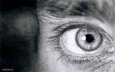 30 realistas e Incredible Desenhos de lápis de olhos
