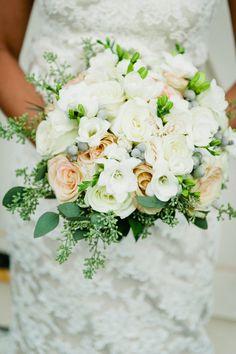 White Rose Bridal Bouquet
