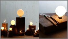 Lighting from reclaimed wood.