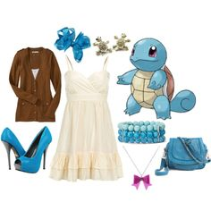 Squirtle, created by catloverd on Polyvore
