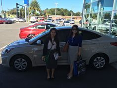 """""""Pierre was awesome! He gave us complimentary breakfast. Thank you Pierre for a nice and easy car buying experience. We will recommend you to our other friends!"""" Joy purchased a brand new 2016 Hyundai Accent with help from our salesman Pierre Matos! We are glad you had such a wonderful experience Joy. And please, if there's anything we can do, don't hesitate to ask… We're here to help! #LakelandAutomall #LakelandHyundai #Hyundai #2016Accent"""