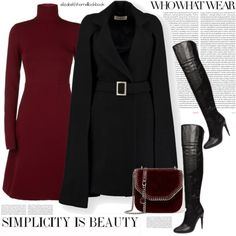 STYLED By LIZ by elizabethhorrell on Polyvore featuring Dorothee Schumacher, STELLA McCARTNEY, Oris, Who What Wear, vegan, sweaterdresses, veganshoes, fall2017 and veganleatherbags