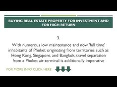 HOW TO BUY A REAL ESTATE PROPERTY FOR INVESTMENT & HIGH RETURN IN PHUKET THAILAND  #RealestateopportunityPhuket #RealEstatePhuketThailand #HighpropertyinvestmentPhuketThailand  #BuyRealEstatePhuketThailand  #HighreturnpropertyPhuketThailand #HighreturnrealestatePhuketThailand #HighreturnrealstateopportunityPhuket  #HighreturnrealestateopportunityThailand #PropertyinvestmentPhuketThailand