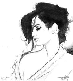 watercolor woman jessica durrant - Google Search