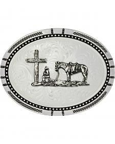 Montana Silversmiths New Traditions Four Directions Christian Cowboy Belt Buckle