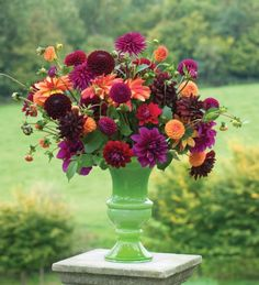 """lovely bouquet by sarah raven, includes downham royal dahlias (which we grow at Triple Wren! See our """"dahlias"""" board)"""