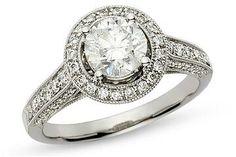 Love this 2 carat vintage ring