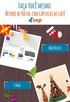 Já pensou em inovar a decoração de Natal com uma árvore feita com cápsulas de café?! Para quem tem pouco espaço e quer gastar pouco, o ZAP em Casa ensina como fazer.