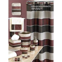 cream and brown bathroom accessories. Found It At Wayfair  Modern Line Shower Curtain Glamorous Red Bathroom Accessories Sets With Brown And Cream