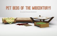 Mod The Sims - Pet beds of the midcentury! Sims 4 Mm Cc, Sims Four, My Sims, Sims 4 Mods Clothes, Sims 4 Clothing, Sims Pets, Sims 3 Cc Finds, The Sims 4 Skin, Muebles Sims 4 Cc