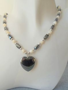 Black Hematite Heart with Magnetic Hematite by ShadowoftheCross