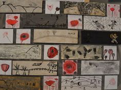 MuzoMove: De Eerste Wereldoorlog in beeld World War One, Art Lessons, Poppies, Gallery Wall, Teaching, Crafty, November, Hoe, April 25