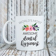 Dental hygienist gift World's most awesome dental by LovableGiftCo
