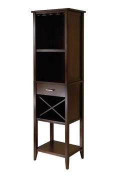 Best Wine Rack | Winsome Wood Palani Wine Tower Cappuccino -- Read more  at the image link. Note:It is Affiliate Link to Amazon.