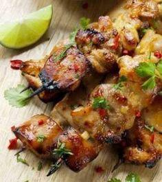 Cilantro Chili Chicken Skewers