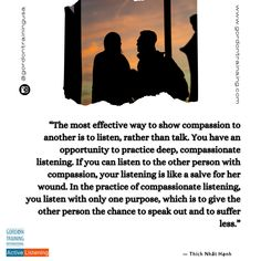 #activelisten #listen #empathy #compassion #gordontraining #gordonmodel