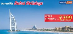 Enjoy an ecstatic holiday in the heart of Middle East. Come indulge in a vacation at Dubai!  More Details here http://www.southalltravel.co.uk/holidays/middle-east/dubai/